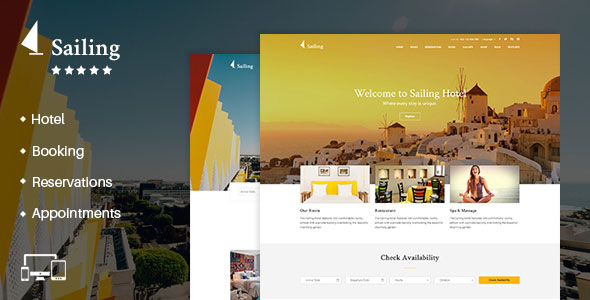 Sailing v1.9.6.2 - Hotel WordPress Theme Nulled