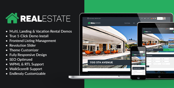 WP Pro Real Estate 7 v2.1.8 - Responsive Real Estate Theme Nulled