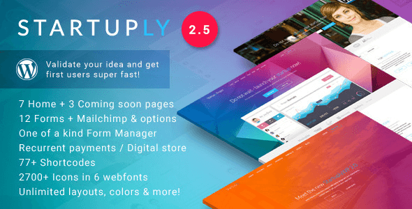 Startuply v2.5.2 - Multi-Purpose Startup Theme Nulled